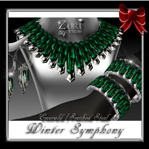 Winter Symphony-Emerald-Smoked Steel-Zuri Rayna Jewelry