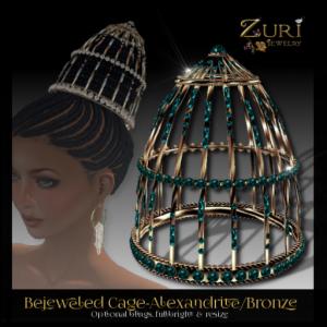 Bejeweled Cage-Alexandrite_Bronze