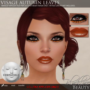 Blacklace Beauty Visage Autumn Leaves LeLutka